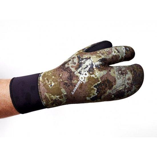 Перчатки AQUADISCOVERY  3-х палые camo